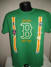 MLB Boston Red Sox Celtic Green Party Suspender T Shirt Mens Sizes Nwt Majestic
