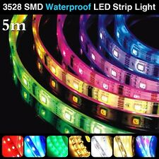 Full Color RGB 5M 300LEDs 3528 SMD Flexible LED Strip Light Roll Super Bright