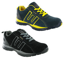 Groundwork Steel Toe Safety Lightweight Leather Mens Work Trainers Shoes UK3-13