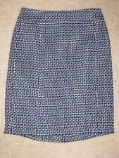 NEW TORY BURCH AUTHENTIC SKIRT DARREN NAVY WHITE TWEED Sky Blue Lined $278