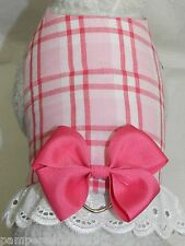 DOG CAT FERRET Travel Harness~RED/PINK WHITE Spring Easter Party BOW & LACE