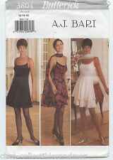 Dress Stole Flared Skirt 2 Layers Butterick Sewing Pattern 3804 Uncut A J Bari