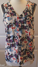 ~Simply Vera Vera Wang~Women Petite Floral Print Blouse~Size:PXS,PS NWT ~