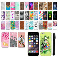 For Apple iPhone 6 iPhone 6S 4.7 inch PATTERN HARD Back Case Phone Cover + Pen