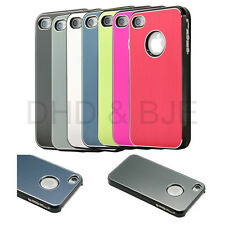 Silver Aluminum Steel Hard Cover case w/ Screen Protector + Pen For iphone 4 4s