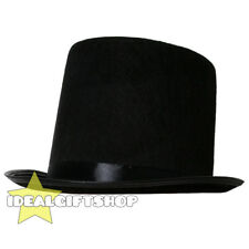 BLACK TOP HAT FANCY DRESS COSTUME ACCESSORY ADULTS CHILDS VICTORIAN RINGMASTER