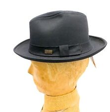 NOS Vintage Men's Hat Bailey  Trilby Fedora Cotton Rat Pack Black or Tan