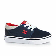 DC Trainers - DC Trase Slip Toddler Trainers - Navy/Red
