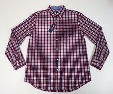 Mens Shirt Chaps Button Down Plaid Easy Care Collar Long Sleeves $55