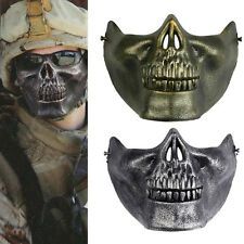Skull Skeleton Airsoft Game Hunting Biker Half Face Protect Gear Mask Guard JG