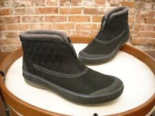 Clarks Black Leather Waterproof Ankle Muckers Slope Winter Boots NEW