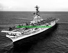 USS Valley  Forge LPH-8 Black n White Photo Navy Carrier USN Military CV 45 1964