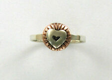 925 Sterling Silver & Copper Stackable Heart Ring, Far Fetched, Retired Design