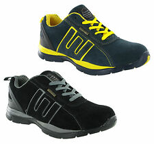 Groundwork Steel Toe Lightweight Safety Leather Mens Work Trainers Shoes UK 3-13
