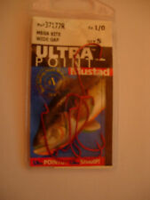 MUSTAD ULTRA POINT MEGA BITE WIDE GAP WORM/SOFT PLASTIC HOOKS (RED) VARIOUS SIZE
