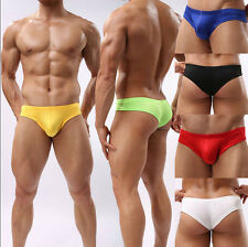 Men's Sexy Boxer Briefs Underwear Comfy Enhance Bulge Pouch Bikini Boxers  BDAU