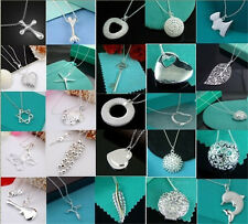 Wholesale Price Ladys Womens Jewelry 925Silver Pendant Necklace Chain Xmas Gifts