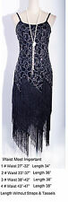 1920's Flapper Clubwear Great Gatsby Sequin&Tassel Size S-6XL Black Dress_4036_k