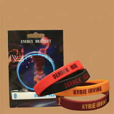 2PC Popular Silicone Wristband Basketball Star ID Bracelet Rubber Hand Ring Band