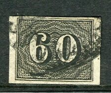 BRAZIL;  1850 early classic Imperf issue fine used 60r. value