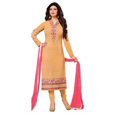 Designer Wedding Embroidered Georgette Salwar Kameez Suit Indian Dress-Zisa-7673