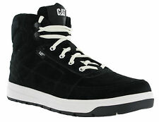 Caterpillar Evident Mid Hi-Top Leather Black Lace Up Casual Skate Trainer Boots