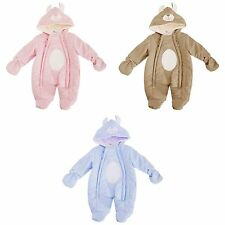 Baby Boys/Girls Rabbit Design Shell Hooded Winter Snowsuit/Romper With Mittens A