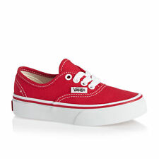 Vans Trainers - Vans Authentic Kids Trainers  - Red/True White