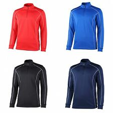 Rhino Mens Casual Sports Athletic Seville 1/4 Zip Midlayer Breathable Top
