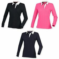 Front Row Womens/Ladies Premium Long Sleeve Rugby Shirt/Top