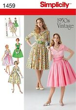 Simplicity 1459 MISSES /PETITE Rockabilly 1950'S VINTAGE DRESS PATTERN SIZE 8-24