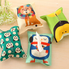 Cartoon Tissue Box Cover Holder Home Office Car Paper Box Bathroom Storage Bag