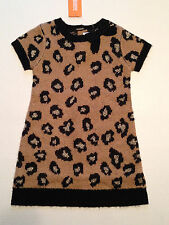 Gymboree RIGHT MEOW Girls size 18 24 m Leopard Print Sweater Dress NWT