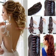 Lady Long Thick One Piece Ponytail Clip in Hair Extension Claw Jaw Pony tails