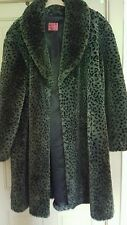 Ladies Faux Animal Fur Swing Style Coat☆Sz L/18/20/22☆Generous Fit☆Richard Shop.