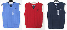 Chaps boys vest cable knit sweater sizes S(8) XL(18-20) NEW