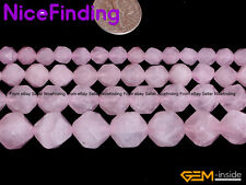 6,8,10,12mm Faceted Rose Quartz Crystal Natural Stone Beads For Jewelry Making