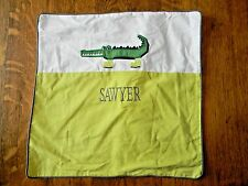 Pottery Barn Kids Pillow Sham Personalized Monogrammed - Sawyer
