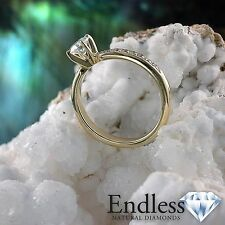14k Solid Gold Engagement Ring 1.09 CT Diamond SI/F-G Size 6 Jewelry Enhanced
