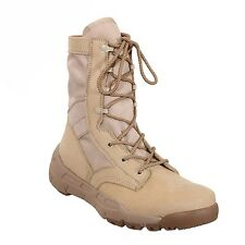 "DESERT TAN 8.5"" Lightweight V-MAX Tactical BOOTS Military SWAT Army Navy USMC"