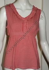Kaleidoscope Red & white striped sleeveless VEST top  LONG TOP sizes UK 14 16 18