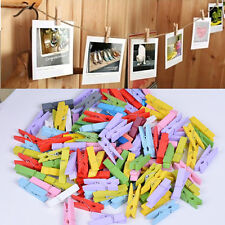 50pcs Mini Wood Clothespins Laundry Photo Paper Peg Clip Clothes Pins Art Crafts