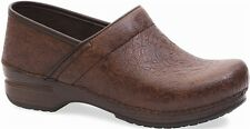 Dansko Pro XP Clog Brown Floral Tooled Women's sizes 36-42/6-12 NEW!!!