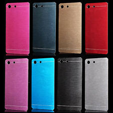 For Sony Xperia M5 Aluminium Metallic Brushed Hard case cover