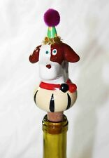 Whimsical Handpainted Wine Bottle Cork Stopper Corks Various Themes Ceramic NEW