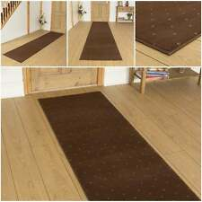 Dotty Brown - Hallway Carpet Runner Rug Mat For Hall Extra Very Long Cheap New