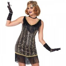 Flapper Costume Adult Sexy Gatsby Girl Roaring 20s Halloween Fancy Dress
