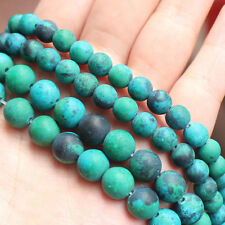 """Frost Chrysocolla Round Beads 15""""/38cm Beads For DIY Jewelry making"""