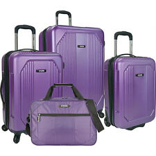 U.S. Traveler Bloomington 4-Piece Spinner Set 3 Colors Luggage Set NEW