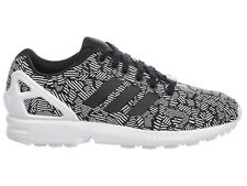 NEW WOMENS ADIDAS ORIGINALS ZX FLUX RUNNING SHOES TRAINERS CORE BLACK / CORE BLA